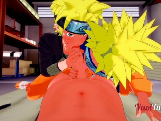 Naruto - Pov Trine 2 Naruto & Kiba Blowjob & Charge From Parasynthetic Cums - Yaoi 3d