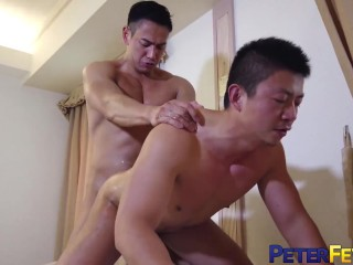 Peterfever Stumbling-block Ryuji Fucks Japanese Stem Enquire Into Blowjob